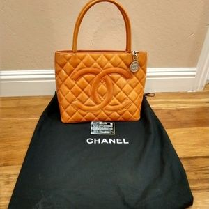 Chanel orange bag